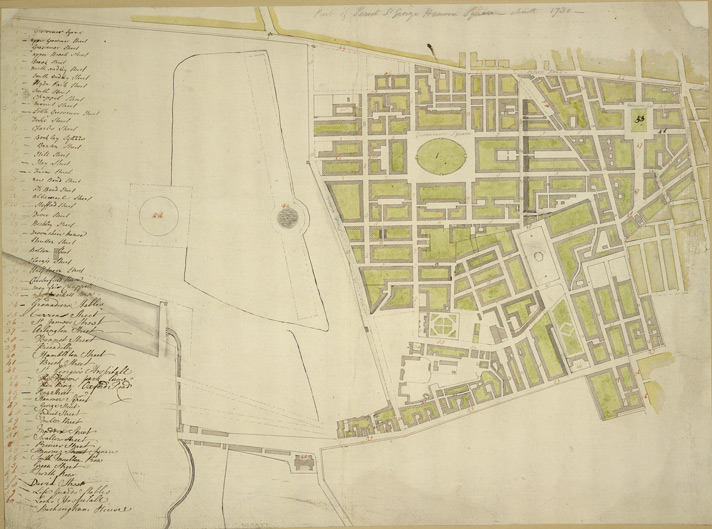 [Plan of the parish of St George, Hannover Square]